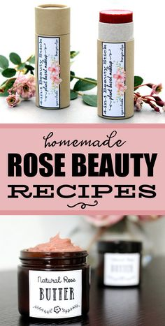 Natural Rose Skin Care Recipes for your summer skin care beauty regimen. There are many ways to introduce roses into your beauty and skin care routine. From bath soaks and body polishes to moisturizers and toners, the possibilities of use for roses is almost endless. Discover my favorite rose skin care recipes for natural clean beauty, including several vegan skin care recipes and a vegan all-in-one cream makeup stick recipe for green beauty. #roses #diyskincare #naturalbeauty #cleanbeauty