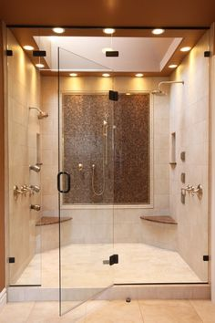 """View this Great Contemporary Master Bathroom with Skylight & Steam Shower Head by Signature Design. Discover & browse thousands of other home design ideas on Zillow Digs. Bad Inspiration, Shower Inspiration, Dream Bathrooms, Beautiful Bathrooms, Luxurious Bathrooms, Small Bathrooms, Pictures Of Bathrooms, Hotel Bathrooms, Shower Pictures"