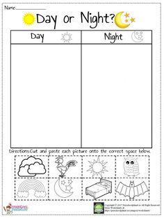 Day And Night Worksheet – Preschoolplanet Kindergarten Addition Worksheets, Preschool Workbooks, Kindergarten Math Worksheets, Science Worksheets, Kindergarten Science, Kids Learning Activities, Worksheets For Kids, Printable Worksheets, Free Printable