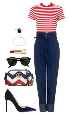 Street style by dalma-m on Polyvore featuring polyvore fashion style RE/DONE Rachel Comey Lerre Gucci Blue Nile Andrea Fohrman Ray-Ban Yves Saint Laurent clothing