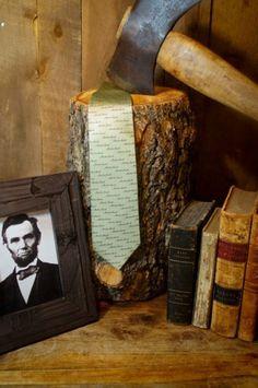 Abraham Lincoln Necktie (Sea Green)  http://buffalojackson.com/necktie-abraham-lincoln-no-7-sea-green.html