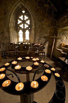 Iona  Abbey on Iona.