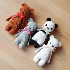 crochet little bears www.haekelherz.de