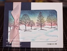 stampwithamber - Amber Meulenbelt, independant Stampin' Up! Christmas Cards To Make, Greeting Cards Handmade, Stampin Up, Amber, Sunrise, Card Making, Sponging, Creative, Nature