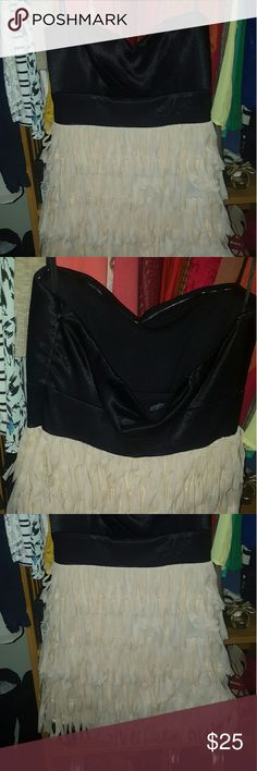 Black mini strapless dress Darling. Fun. Perfect Vegas or party dress. Juniors size 7, fits a women size 4.  Never worn. Purchased from Macys. Amy Byer Dresses Mini