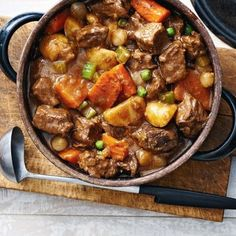 In large bowl, whisk together flour, salt and pepper; toss with beef to coat.
