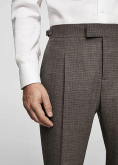 Formal Trousers For Men, Men Trousers, Mens Fashion Shoes, Suit Fashion, Slim Fit Dress Pants, Men Dress, 1920s Mens Clothing, Traje Slim Fit, Clothes For Big Men