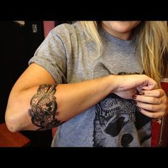 Lace arm wrap tattoo. :)