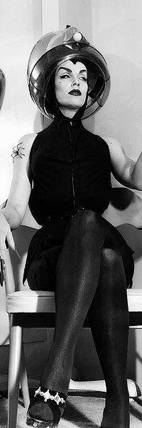 Maila Nurmi as Vampira in the Salon Rockabilly, Madame Pompadour, Godzilla, Maila, Classic Monsters, Thing 1, Psychobilly, Vintage Halloween, Halloween Ii