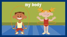 """My Body""   The original children's song ""My Body"" helps children learn basic body parts and motor skills, set to the tune of the classic ""My Bonnie."" This song helps teach young children beginning dance as well as rhyming, so be sure to encourage your child to dance, sway, and sing along to this song!   --from www.AgeofLearning.com"