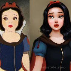 """my version of Snow White #disneyart"" @isabelle_staub on Instagram"