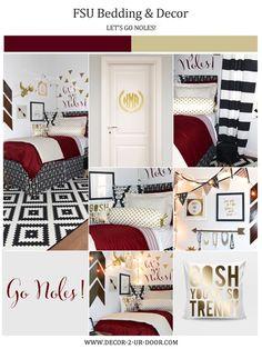 Florida State Noles {FSU} Garnet U0026 Gold Designer Dorm Bedding Set Part 87