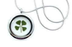 Real Four Leaf Clover Pendant Necklace  4 leaf by AsanaNaturalArts