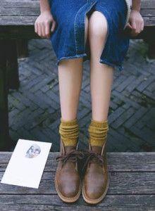 [오리샵]꽈배기 니트 패션양말 겨울양말