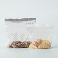 IKEA - ISTAD, Resealable bag, grey/white, Can be used over and over again since it can be re-sealed. Ikea Shopping, Types Of Plastics, Food Containers, Cookies Et Biscuits, Grey And White, Fossil, Dog Food Recipes, Packaging, Cooking