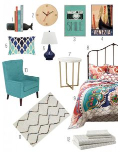 Tahla Quilt Inspired Bedroom Mood Board #anthropologie