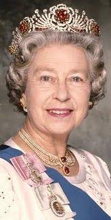 Her Majesty Queen Elizabeth II the Burmese ruby tiara.