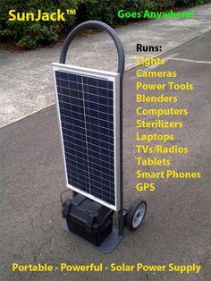 The SunJack™ Portable Universal Power Supply