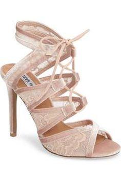 97ada2fdd03d Alternate Image 1 - Steve Madden Laela Ghillie Lace Sandal (Women) Wrap  Heels
