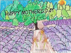 Do you have any little ones at home? Here's a creative project inspired by our blooming lavender fields at the height of summer to spark. Lavender Crafts, Lavender Flowers, Projects For Kids, Art Projects, Flower Dance, Mothers Day Pictures, Lavender Fields, Happy Mothers Day, Coloring Pages
