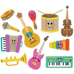 Explore thousands of classroom-tested clip art resources for grades created by educators like you. Musical Instruments Clipart, Homemade Musical Instruments, Art For Kids, Crafts For Kids, Toddler Crafts, Music Clipart, Instrument Craft, Music Wall, Music Party