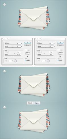 Illustrator Tutorial: How to create a detailed envelope illustration in Adobe Illustrator