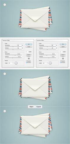 Illustrator Tutorial: How to create a detailed envelope illustration in Adobe Illustrator