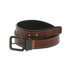 Levi's Men's Reversible Tan to Black Twist Buckle Bridle Belt #Levis