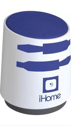 New iHome Star Wars R2D2 R2 D2 Mini Speaker Rechargable Portable Li M89RD FX   eBay