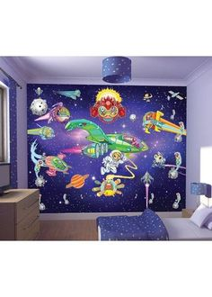 Alien Wall Mural Http://www.childrens Rooms.co.uk