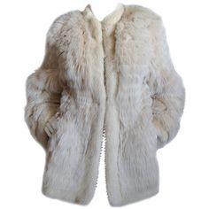 1970s YSL Feathered Fox Fur Jacket