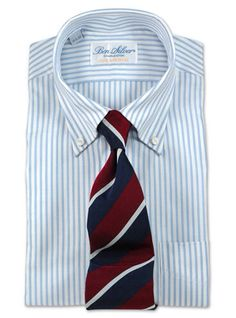 19cdeb50 Ben Silver Striped Tie Dress Shirt And Tie, Royal Air Force, Ties, Cufflinks