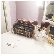 Target Dollar Spot Wire Organizer for Makeup Storage