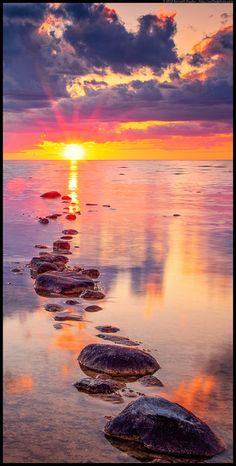 Straits of Mackinac Sunset...