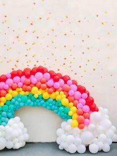 27 super Ideas for baby shower ideas rainbow first birthday parties Rainbow First Birthday, Unicorn Birthday Parties, First Birthday Parties, First Birthdays, Happy First Birthday, Birthday Kids, Balloon Garland, Balloon Decorations, Birthday Decorations