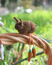 Easter Ornament/Accessory - Bunny with Carrots