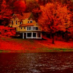 I want to go here.   Cottage in Autumn