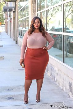 Spring and trendy looks plus size women should rock Looks Plus Size, Curvy Plus Size, Moda Plus Size, Curvy Women Fashion, Look Fashion, Dress Fashion, Womens Fashion, Plus Size Fashion For Women, Plus Size Women