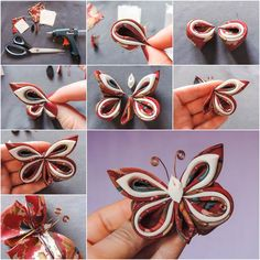 How to DIY Pretty Silk Ribbon Butterfly | iCreativeIdeas.com Follow Us on Facebook --> https://www.facebook.com/icreativeideas