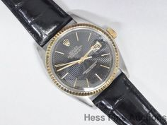 Genuine Rolex Vintage Datejust Gold Steel On Leather Strap 16013 #Rolex #Sport