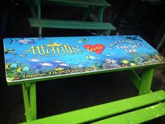 Look out for our table tops! Atlantis Submarines Barbados is proud to partner with the delicious eateries at Oistins in Barbados.