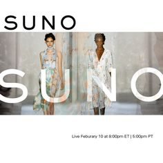 Watch SUNO live with exclusive photo and text updates happening both on & off the runway.