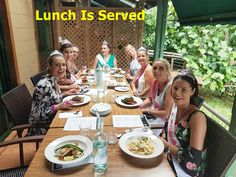 A delicious two course lunch is included with all Cork 'n Fork tours. It is usually at a winery restaurant and pre-ordered to save time. This tour was a Hen's day with a difference, everyone wore a tiara except the Bride to Be. The day was filled with laughter and smiles as the ladies enjoyed each others company and the wines tasted and purchased for later consumption. Being driven to drink is the only way to go. http://corknforktours #corknforktours #thisisqueensland