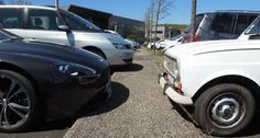 Today my is parking in front of the car of a boss. Aston Martin, Boss, Park, Renault 4, Cars, Parks