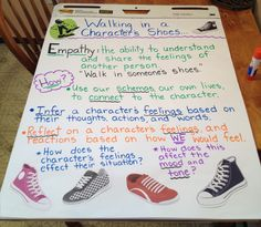Walking In a Character's shoes. Empathy Anchor Chart