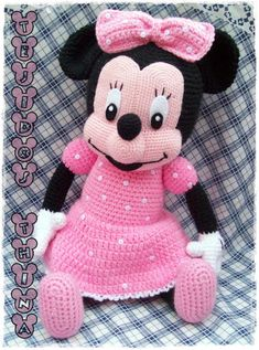 Minnie Mouse Amigurumi Free Pattern (beautiful Skills Crochet With Regard To Free Mini Mouse Crochet Patterns Click below link for Disney Crochet Patterns, Crochet Disney, Crochet Mouse, Crochet Amigurumi Free Patterns, Crochet Doll Pattern, Crochet Dolls, Doll Patterns, Mickey Mouse Doll, Patron Crochet