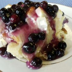 Blueberry Cream Cheese French Toast Casserole Recipe 3 | Just A Pinch Recipes/ BLUE RIBBON RECIPE