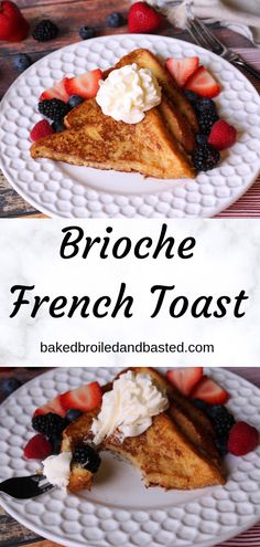 This rich anf buttery french toast will change your life. Using brioche bread makes this really special and even a little fancy. This super easy dish is perfect for lazy mornings or even special occasions. Brioche French Toast, Make French Toast, Brioche Bread, Best Dessert Recipes, Fun Desserts, Drink Recipes, Sweet Breakfast, Breakfast Ideas, Breakfast Recipes