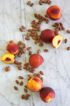 "Healthy Snack: Raw Almonds + Fresh Peaches. In a snack-time rut? Click through for food ""pairings"" that will spice things up!"