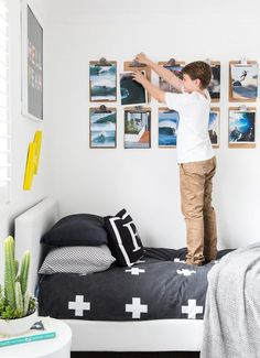 54 Minimalist Kids Bedroom Design Ideas On A Budget - About-Ruth Teen Boy Bedding, Teen Girl Bedrooms, Big Boy Bedroom Ideas, Boys Room Ideas, Cool Boys Room, Teen Boy Rooms, Nursery Ideas, Cozy Bedroom, Bedroom Wall